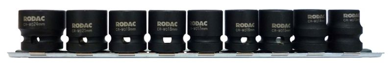 "RODAC 1/2"" Krachtdoppen set 13 t/m 24 mm"