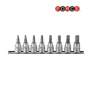 "FORCE 3/8"" Doppen set Resistorx T20H t/m T55H"